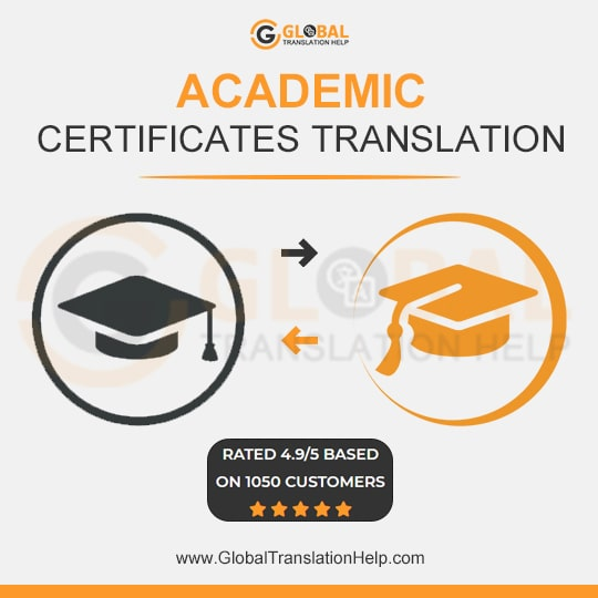 academic certificate translation
