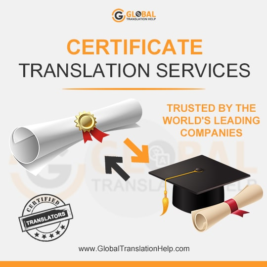 Certificate Translation Services