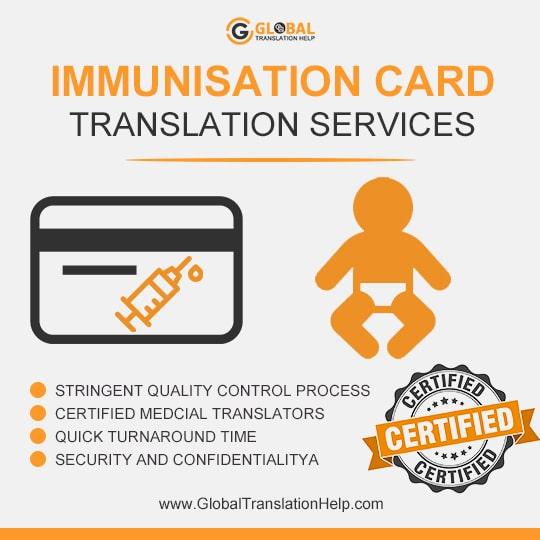 Immunization Record Immigration Document Translation Services |