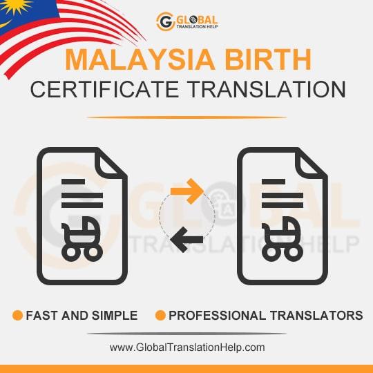 Malaysia Birth Certificate Translation