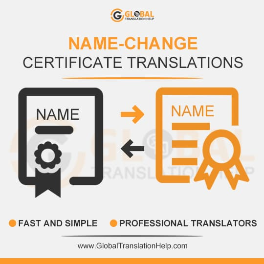 Name Change Certificate Translation | Name change, Translation, Competence
