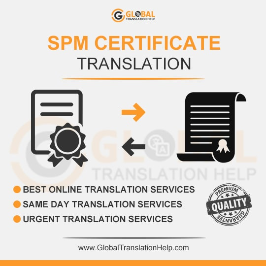 Spm Certificate Translation