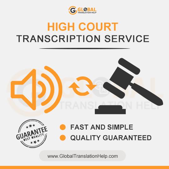 High Court Transcription Services USA | Legal transcribers