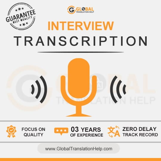 Interview Transcription Services | Fast, Accurate & Reliable