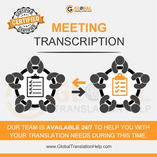 Meeting Transcription Services - Audio & Video