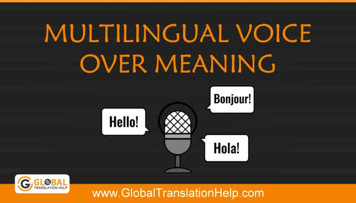 Multilingual Voice Over Meaning